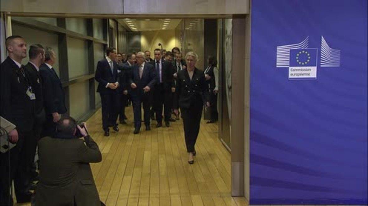 Bélgica: El presidente de la CE Claude Juncker se reunió con el primer ministro polaco Morawiecki en Bruselas