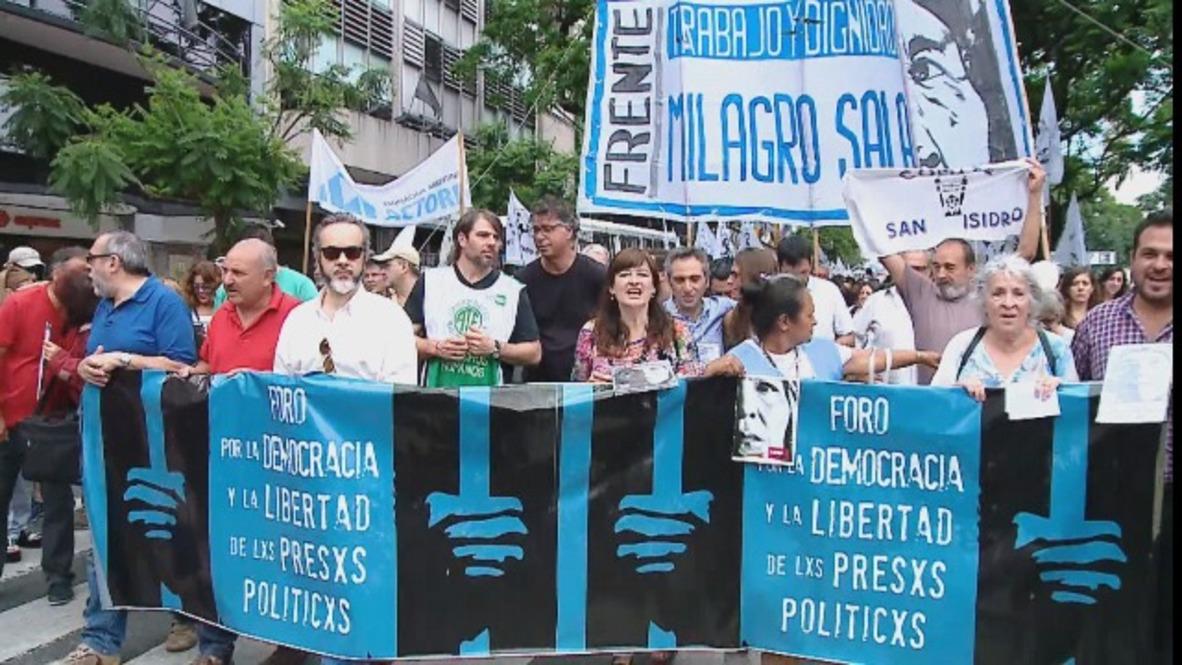 Argentina: Manifestantes exigen la liberación de Milagro Sala en las calles de Buenos Aires