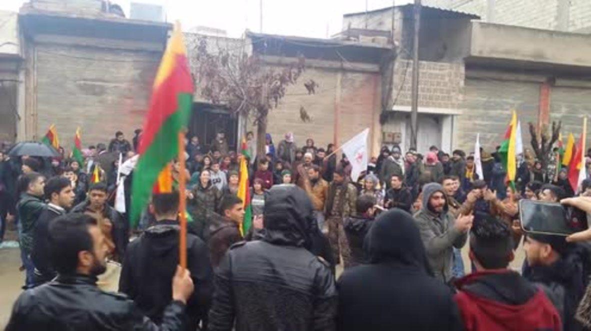 Syria: 'Erdogan, Afrin will be your graveyard' – Kurds protest against Turkish invasion plans