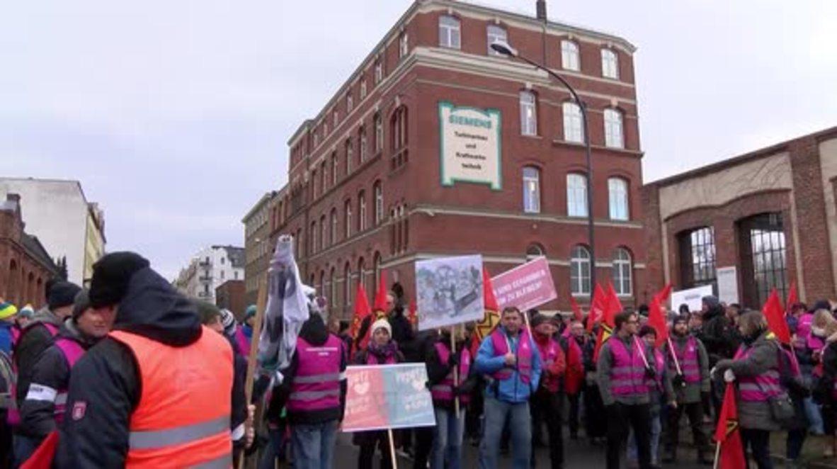 Alemania: Miles protestan por despidos de Siemens y Bombardier en Gorlitz