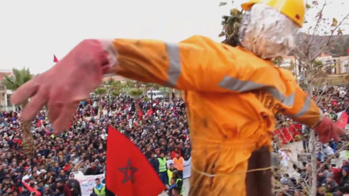 Marruecos: Manifestantes convocan huelga por los mineros de Jerada