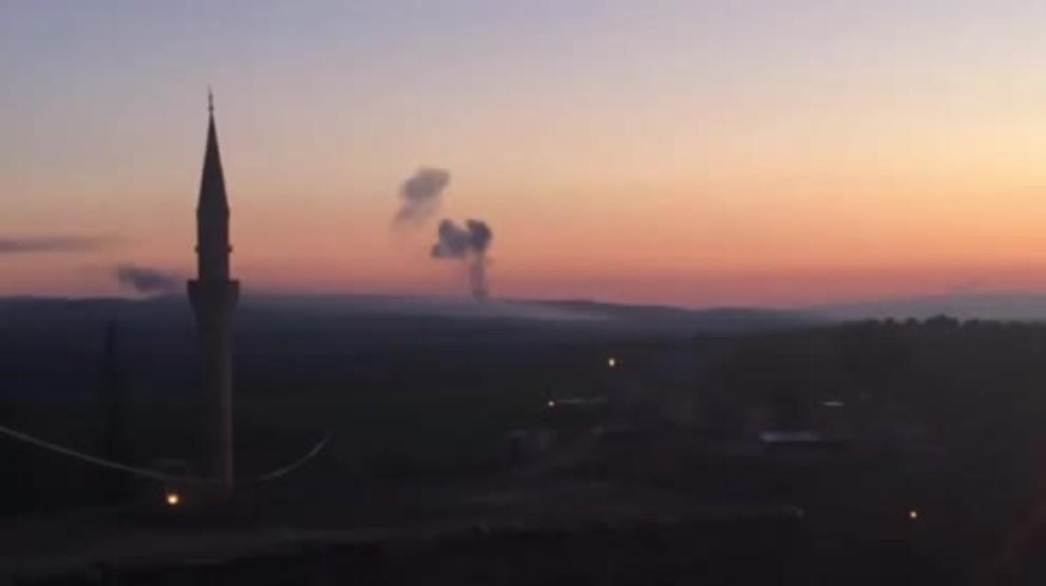 Turkey: Smoke rises over Afrin as Turkey targets Kurdish positions