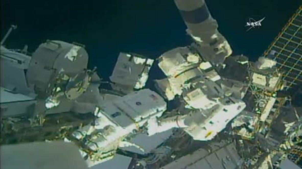 ISS: NASA astronauts perform first spacewalk of 2018