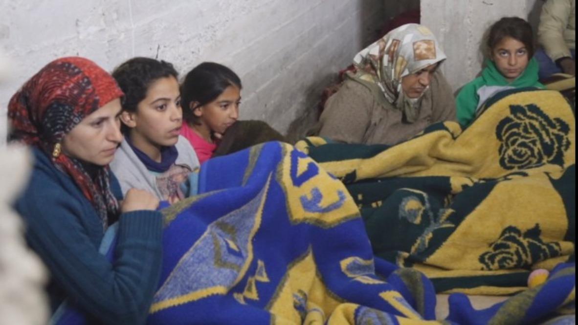 """Siria: Civiles se esconden en el refugio de Afrin mientras se desarrolla la operación turca """"Olive Branch"""