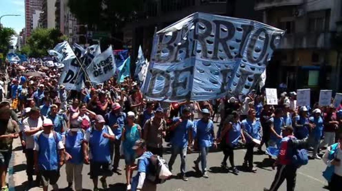 Argentina: Manifestantes toman las calles de Buenos Aires contra el aumento de los precios