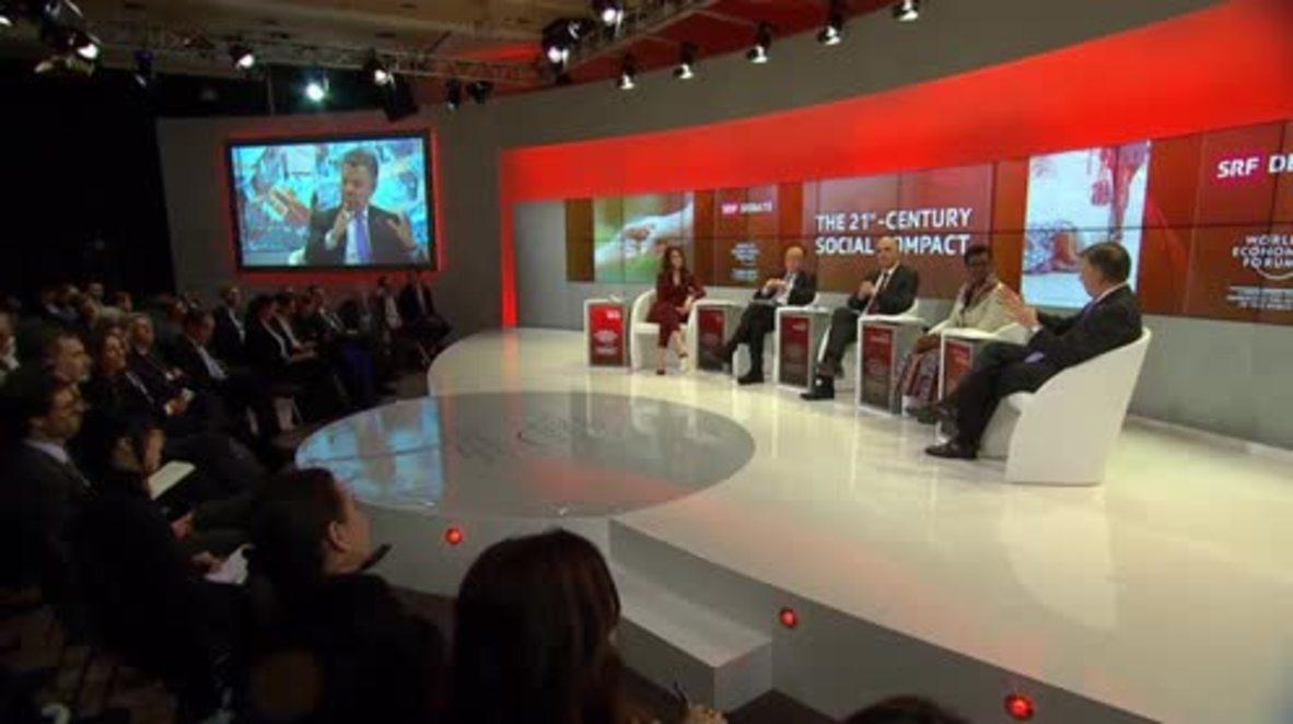 Suiza: El ministro de Exteriores español se desmaya durante un panel de discusión en el Foro Económico de Davos