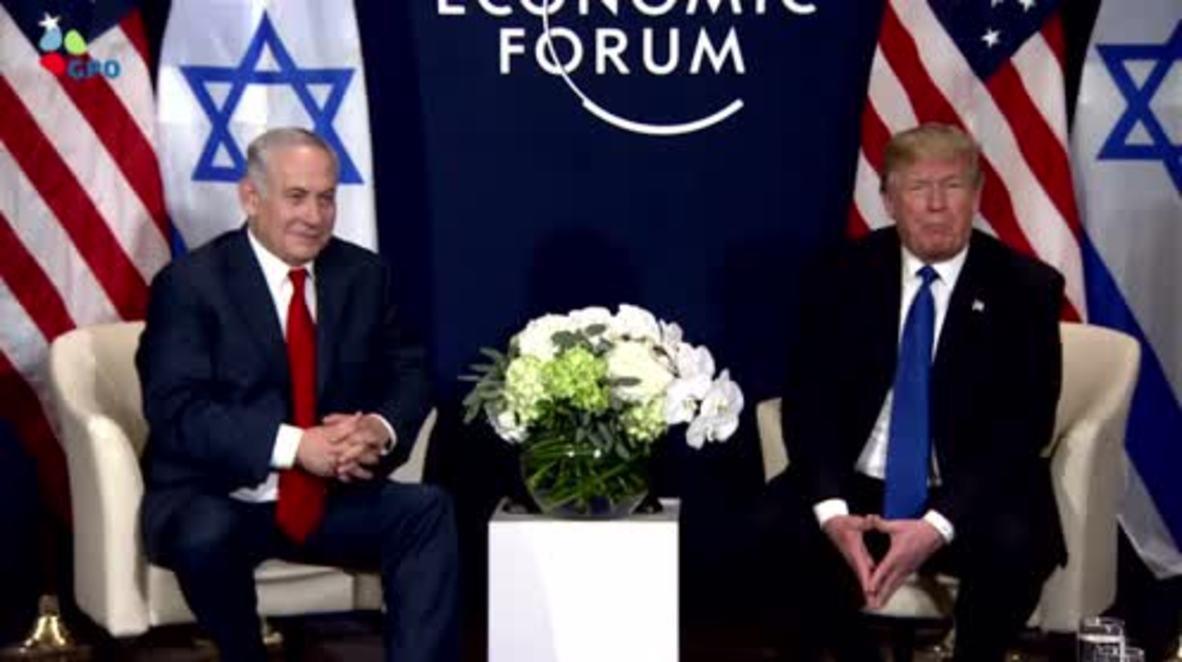 """Suiza: Trump denunció que los palestinos le """"faltaron el respeto"""" a EE. UU."""
