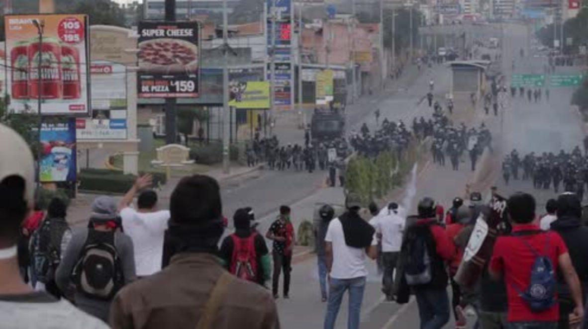 Honduras: Enfrentamientos durante la toma de posesión como presidente de Juan Orlando Hernández