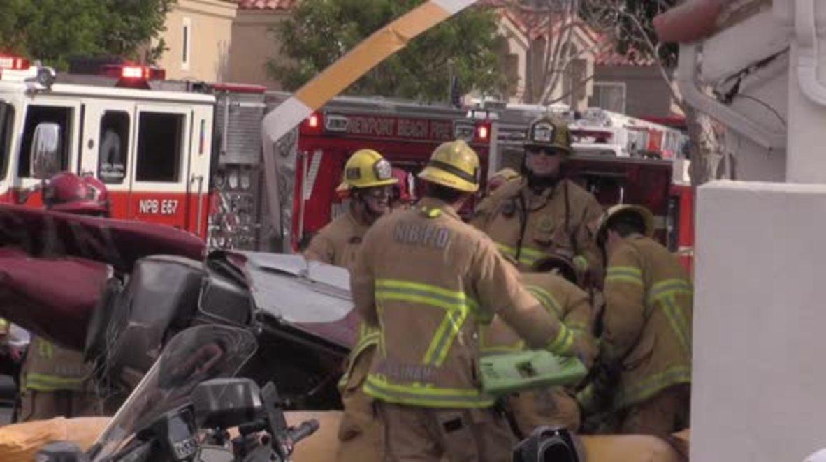 EE.UU.: Al menos tres muertos después de que un helicóptero se estrellase contra una casa en California