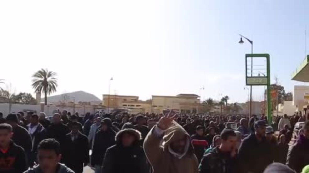 """Marruecos: Estallan protestas en Jerada durante el funeral de otro trabajador de las """"minas de la muerte"""