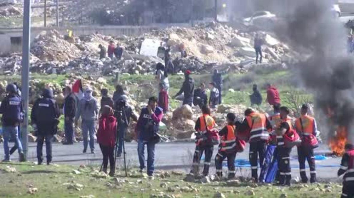 Palestina: Enfrentamientos con las fuerzas israelíes durante protestas en Cisjordania