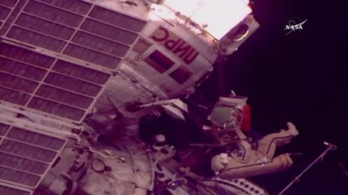 ISS: Watch Russian Cosmonauts' spacewalk with helmet-cams!