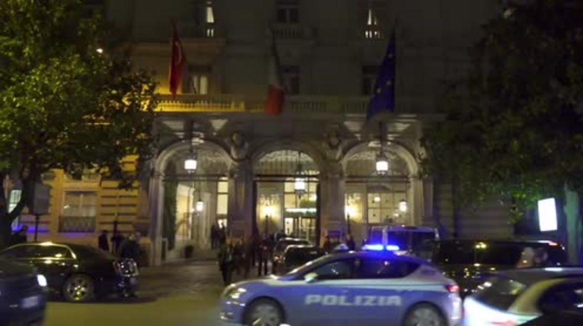 Italy: Erdogan arrives in Rome for 24-hour visit