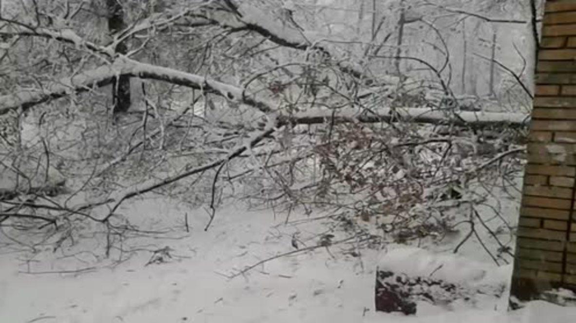 Rusia: Un muerto y varios heridos por la mayor tormenta de nieve jamás registrada en Moscú