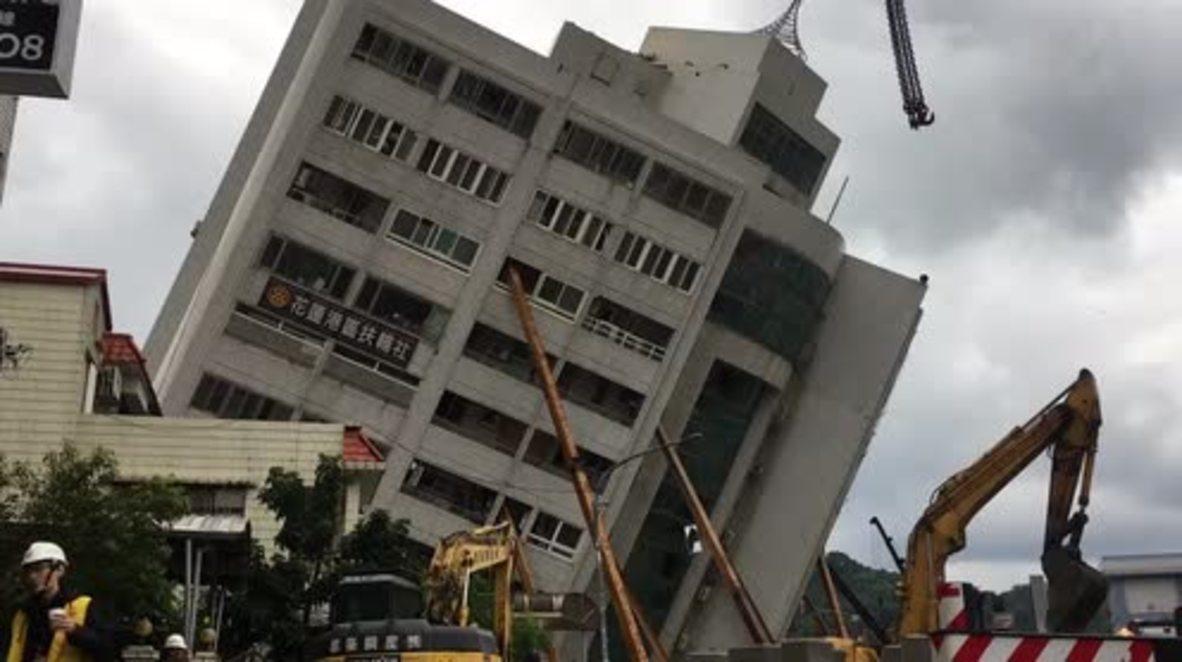 Taiwán: Al menos 6 muertos en un potente sismo que derribó y dañó varios edificios