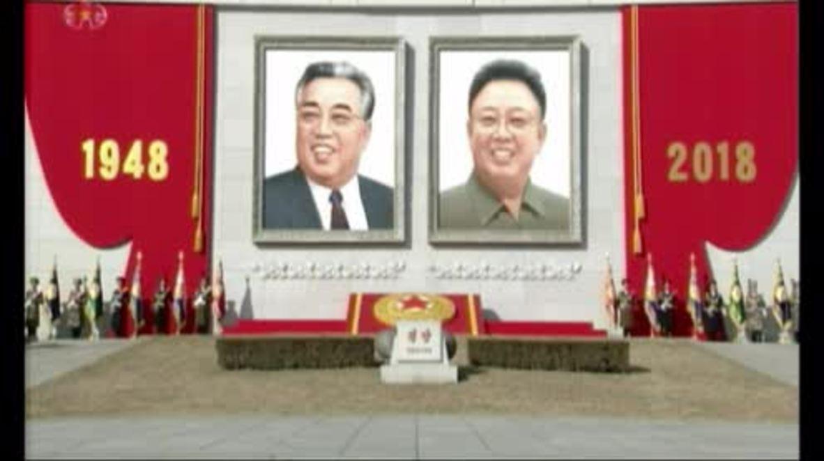 Corea del Norte: Kim Jong Un preside un gran desfile militar en vísperas de los Juegos Olímpicos