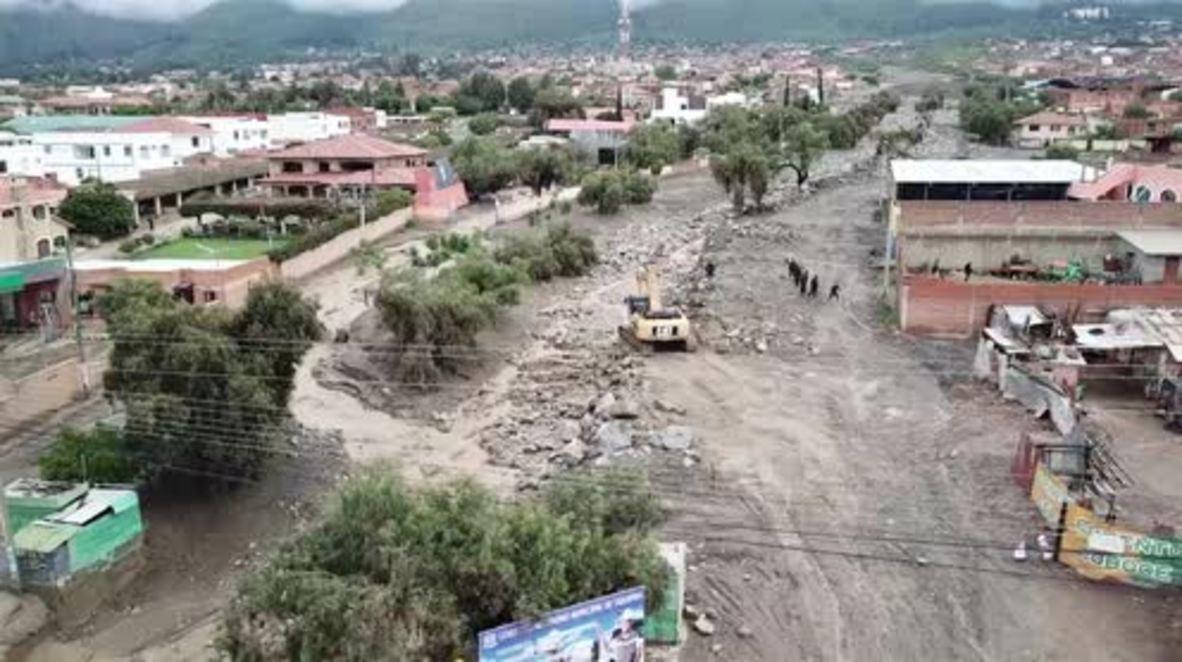 Bolivia: Dos muertos y dos desaparecidos tras inundaciones mortales en Tiquipaya