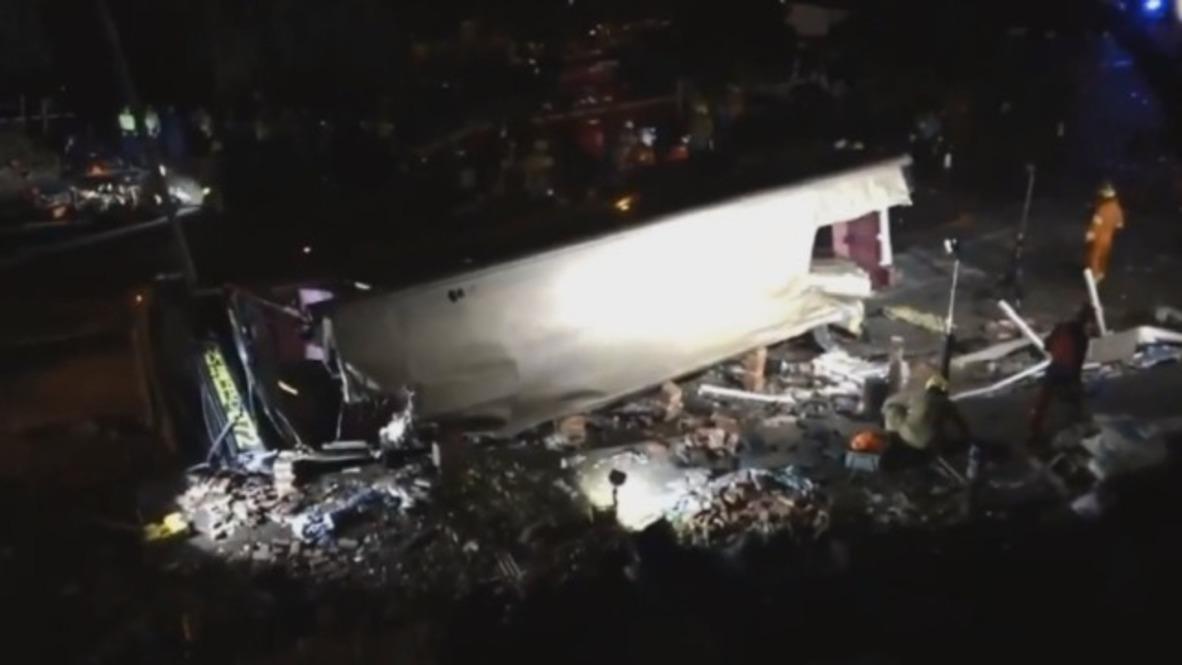 Hong Kong: Rescue operation underway after bus crash kills 19