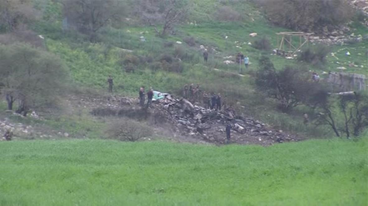 Israel: Emergency services begin clearing Israeli F-16 debris