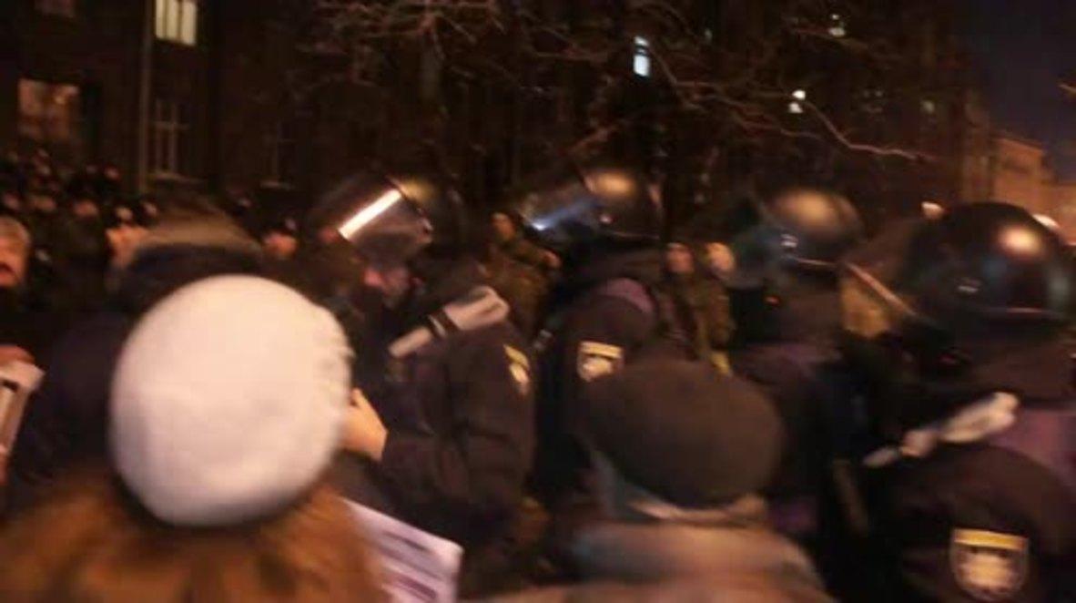 Ucrania: Partidarios marchan en Kiev contra la deportación de Saakashvili