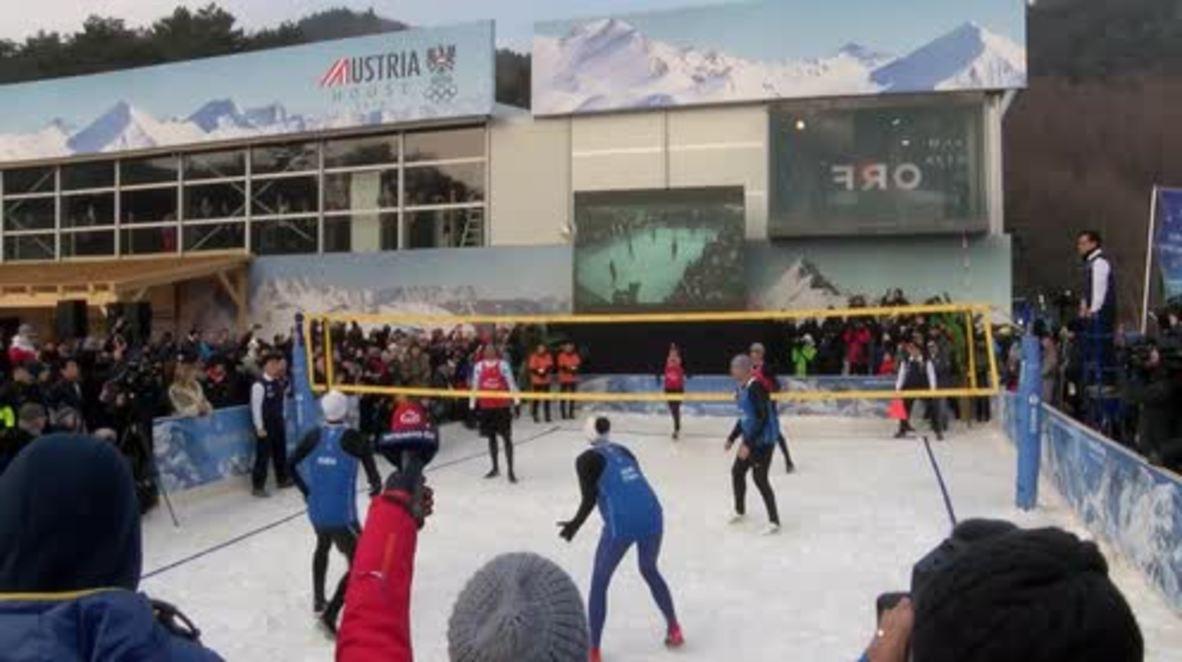 Corea del Sur: El voleibol pasa de la arena a la nieve en busca del reconocimiento olímpico