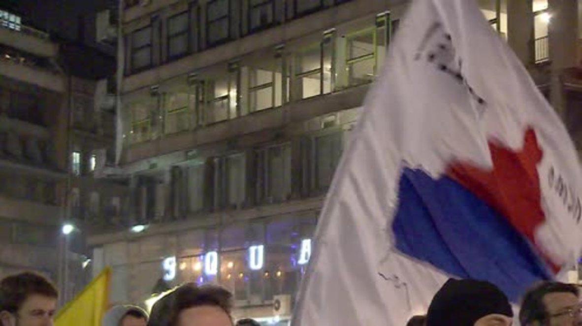 Serbia: Belgrade citizens rally to oppose Kosovo independence anniversary