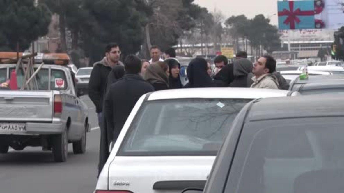 Irán: Familias de las víctimas del accidente aéreo buscan respuestas