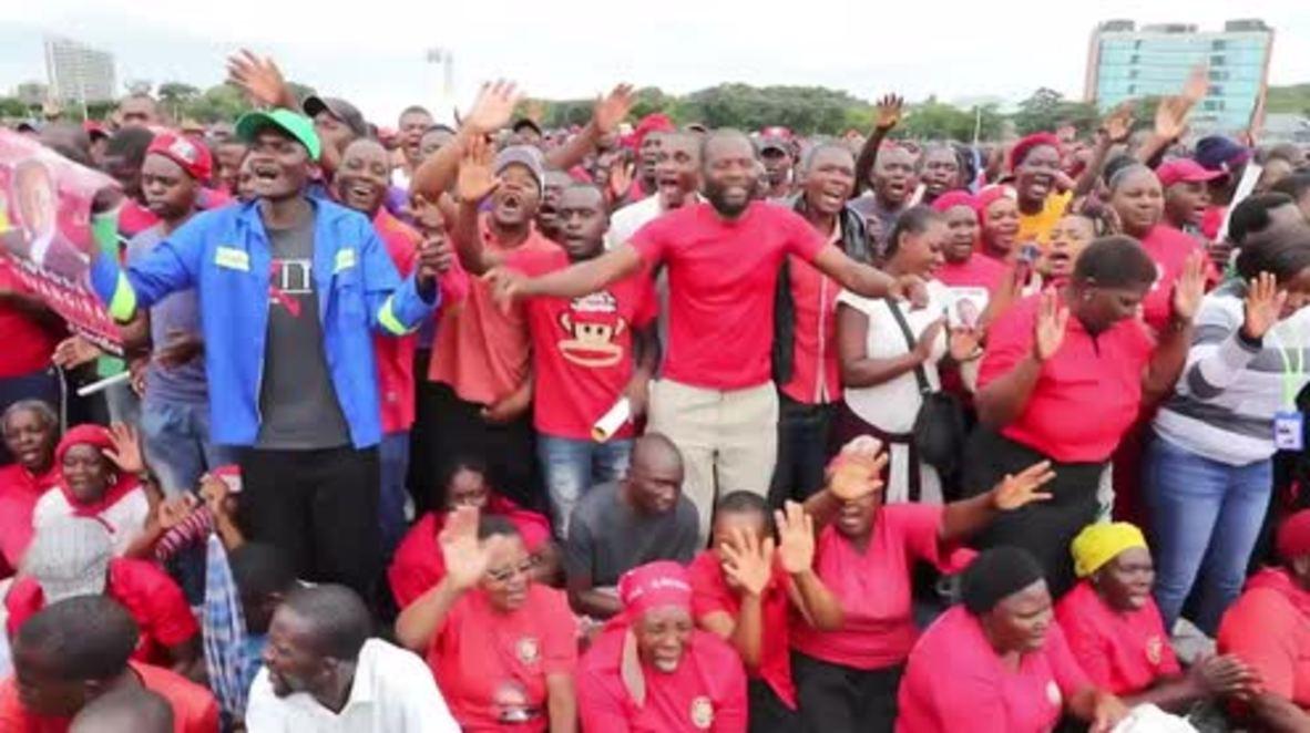 Zimbabwe: Thousands pay tribute to late opposition leader Tsvangirai