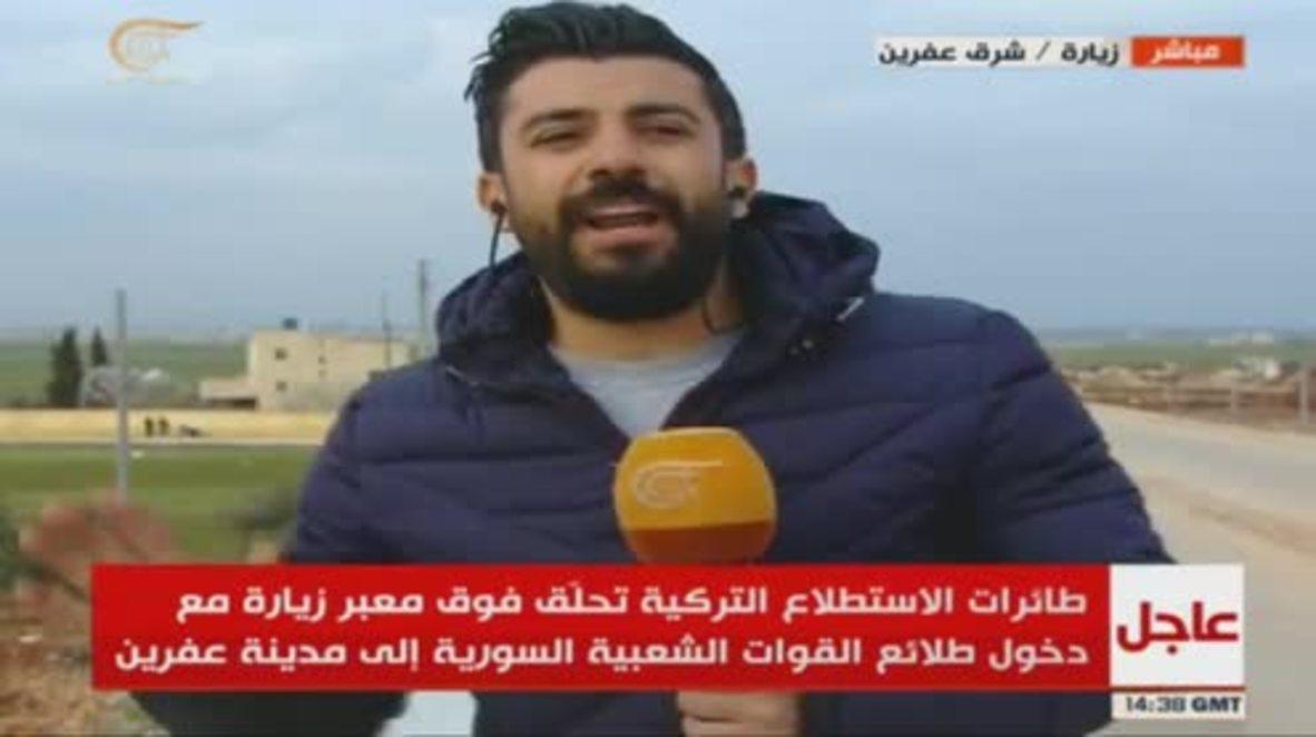 Siria: Reportero con suerte escapa del bombardeo turco en Afrin