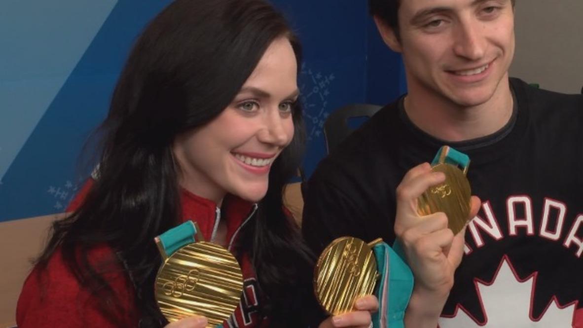 """Corea del Sur: """"Estas son las medallas que nos merecíamos"""" - Patinadores canadienses Virtue y Moir"""
