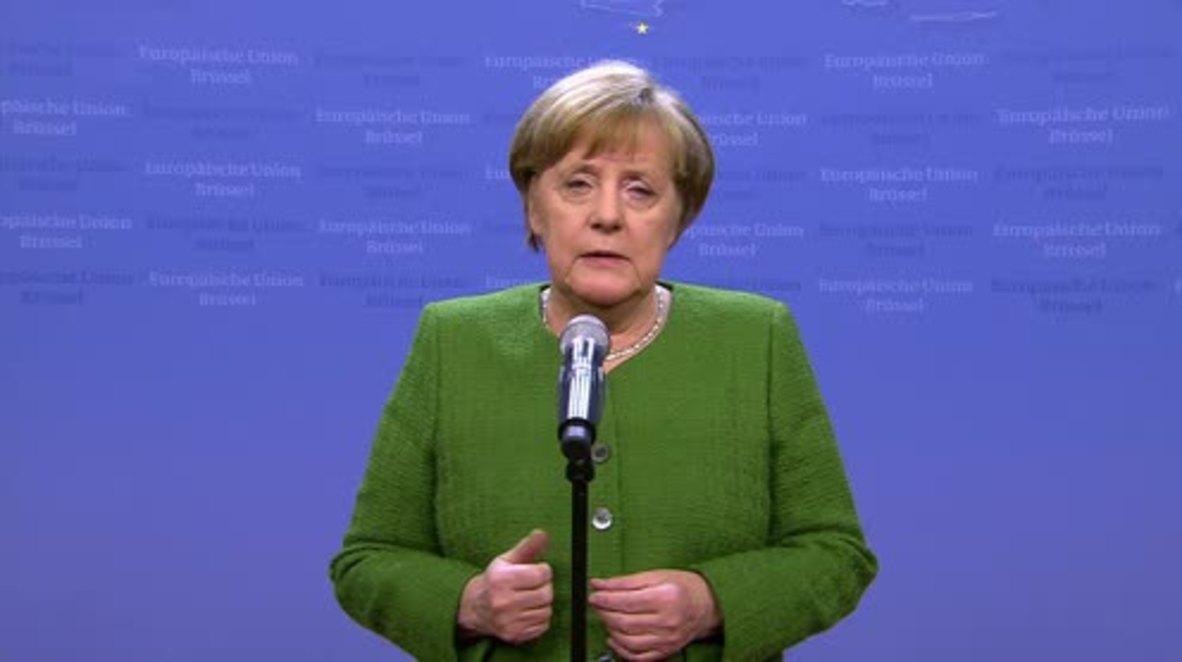 Belgium: Merkel pleads for UN resolution on Ghouta