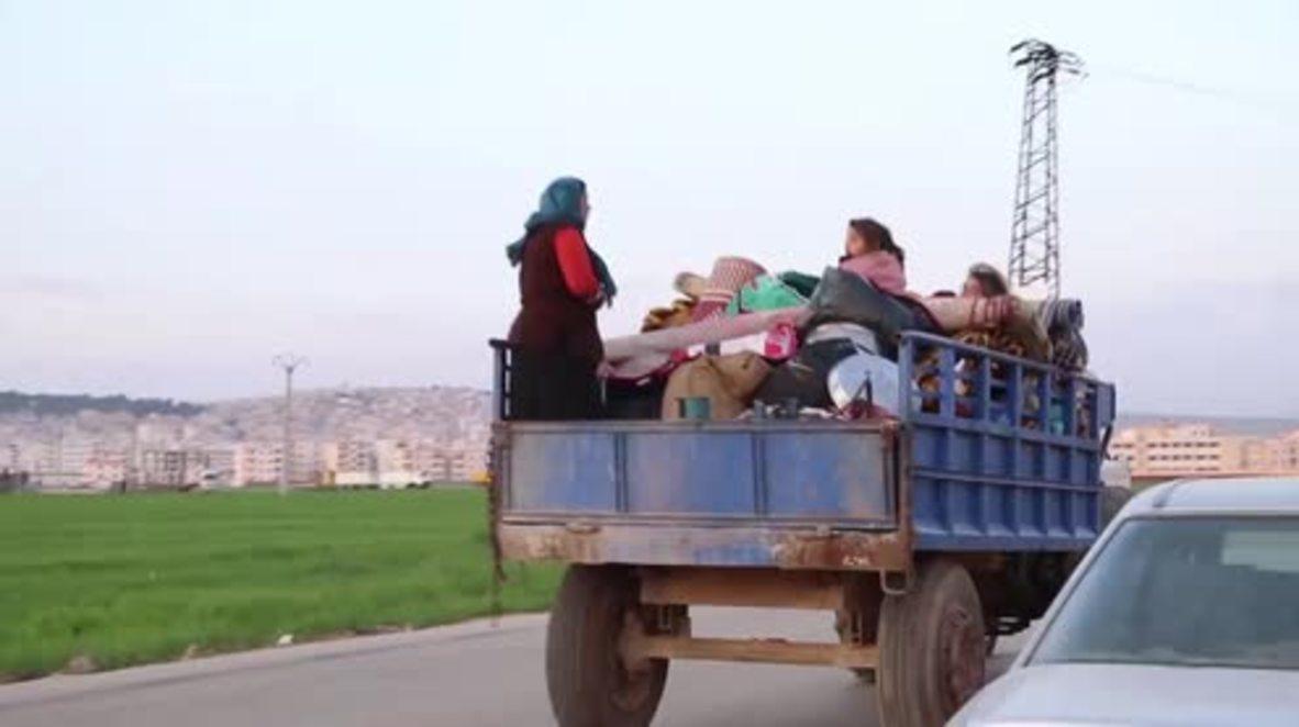 Siria: Éxodo masivo de residentes de Jandaris a Afrin mientras que las fuerzas turcas avanzan