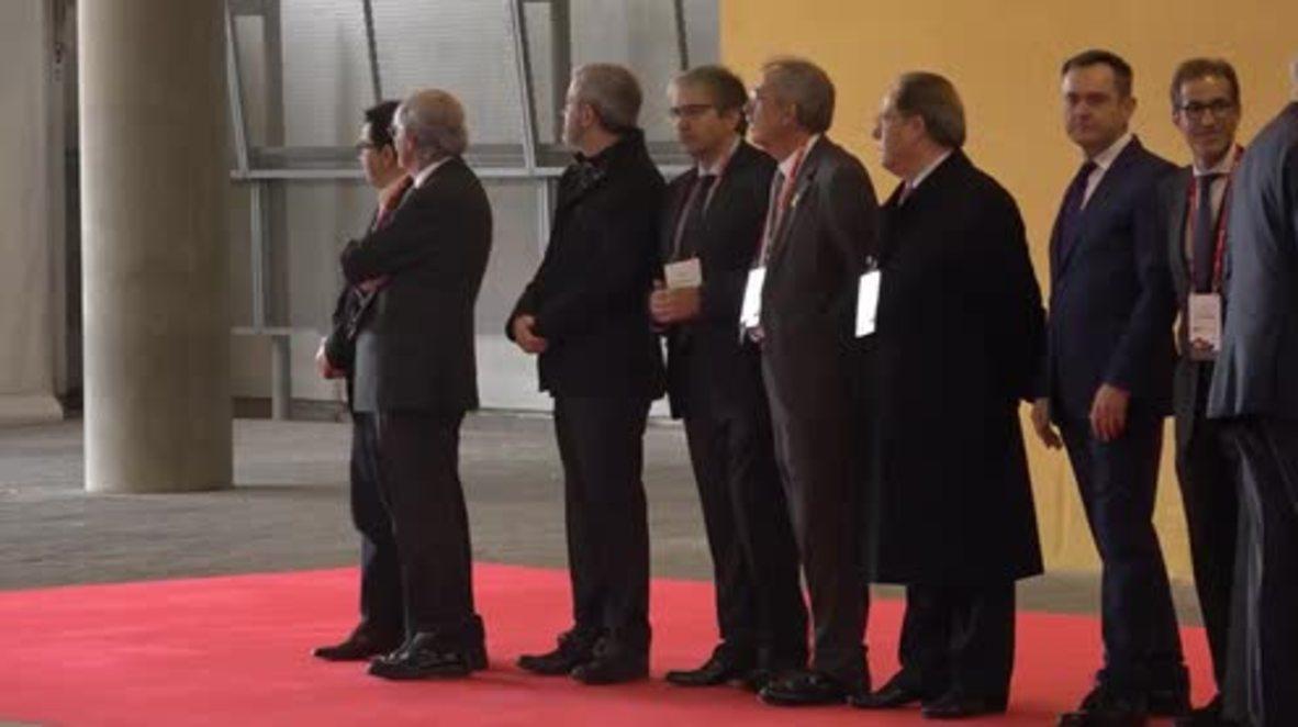 España: El rey Felipe VI inaugura el MWC en Barcelona a pesar de las protestas independentistas