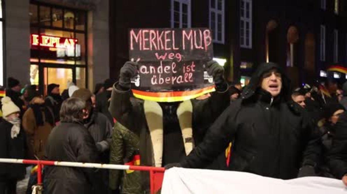 Alemania: Mitin de extrema derecha provoca una contra protesta antifascista en Hamburgo
