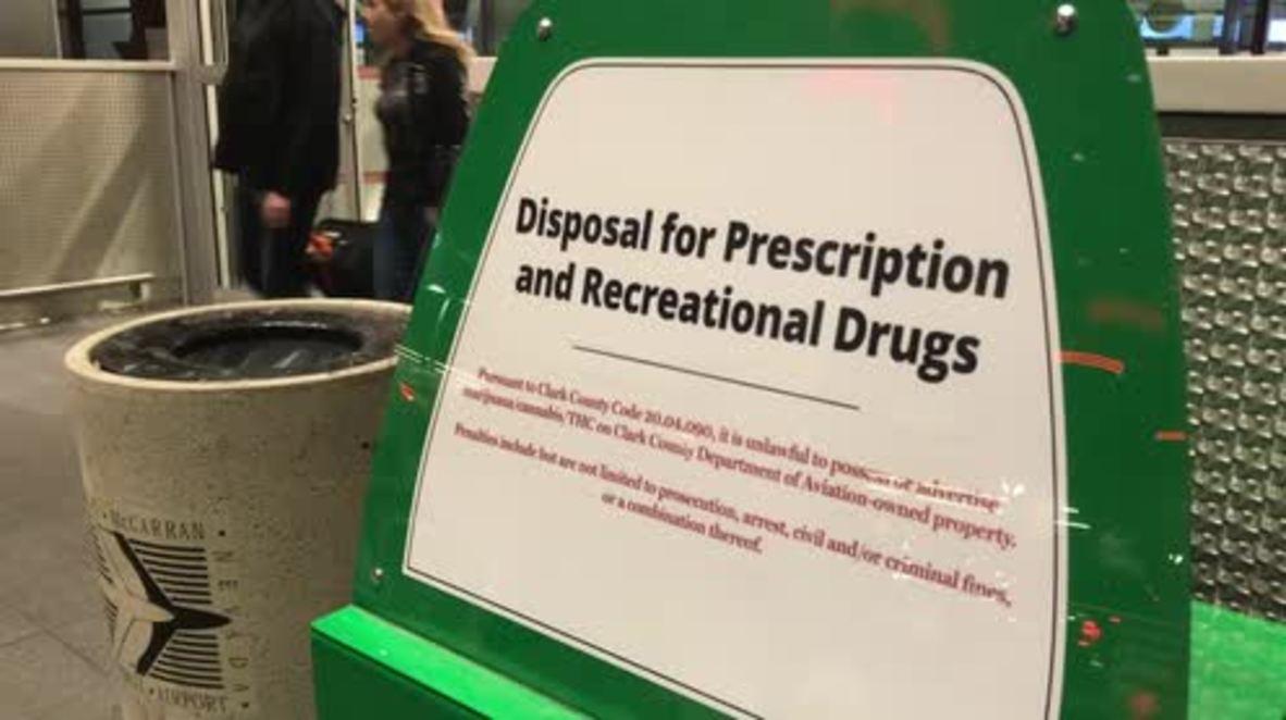 EE. UU.: Colocan recipientes para deshacerse de las drogas en el aeropuerto de Las Vegas