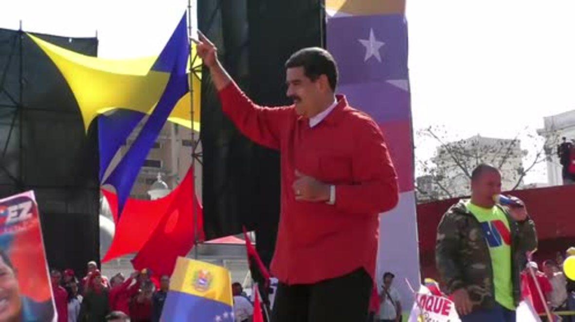 Venezuela: Maduro baila por su campaña electoral en Caracas