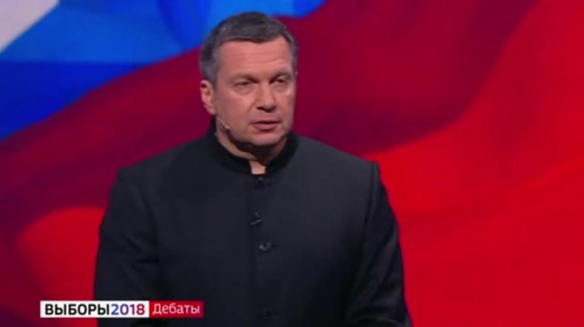 Rusia: 'Eres una puta' - Sobchak rocía con agua a Zhirinovsky en el debate presidencial