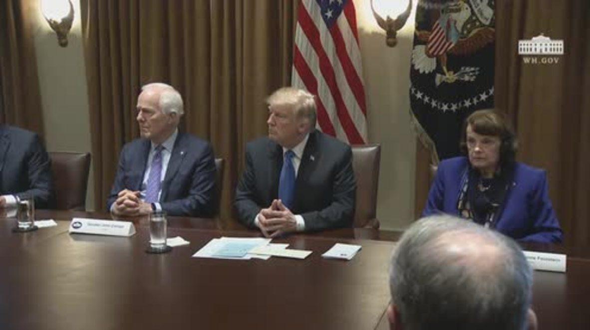 """EE.UU.: Trump dijo a la NRA que """"es hora de detener esta tontería"""" en la reunión de control de armas"""