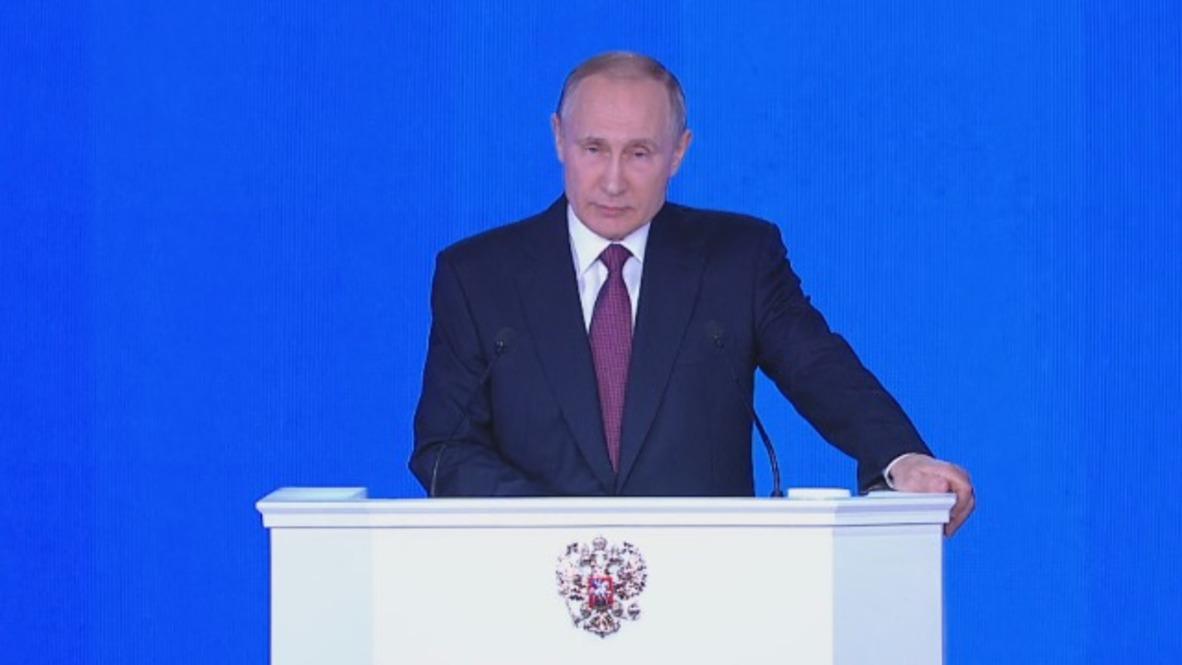 Rusia: Si es atacada, Rusia utilizará sus armas nucleares - Putin durante el discurso anual a la Asamblea Federal