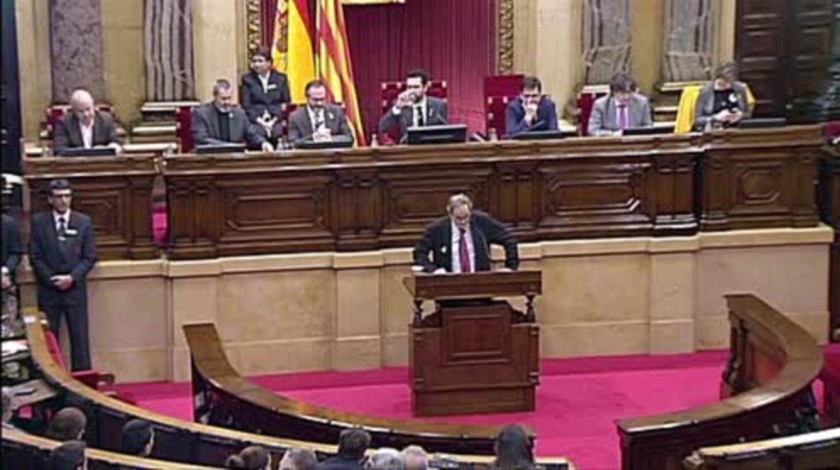 Spain: Catalan parliament defends Puigdemont