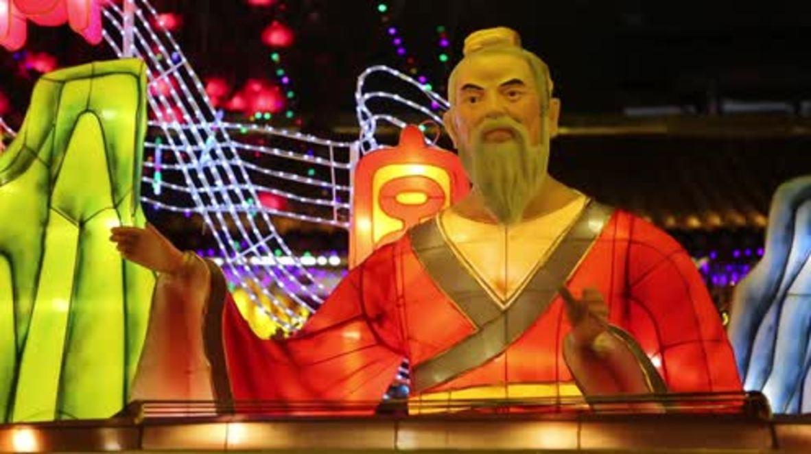 China: ¡Que haya luz! Celebran el Festival de la Linterna con danzas