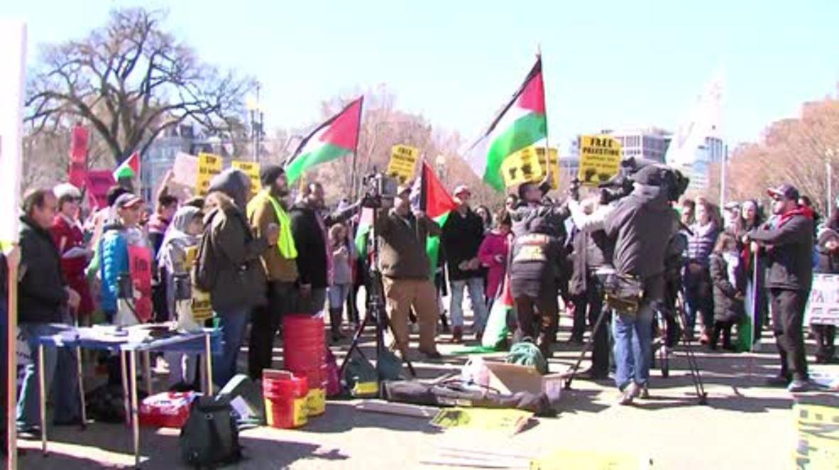 USA: Pro-Palestinian march hits DC as AIPAC kicks off