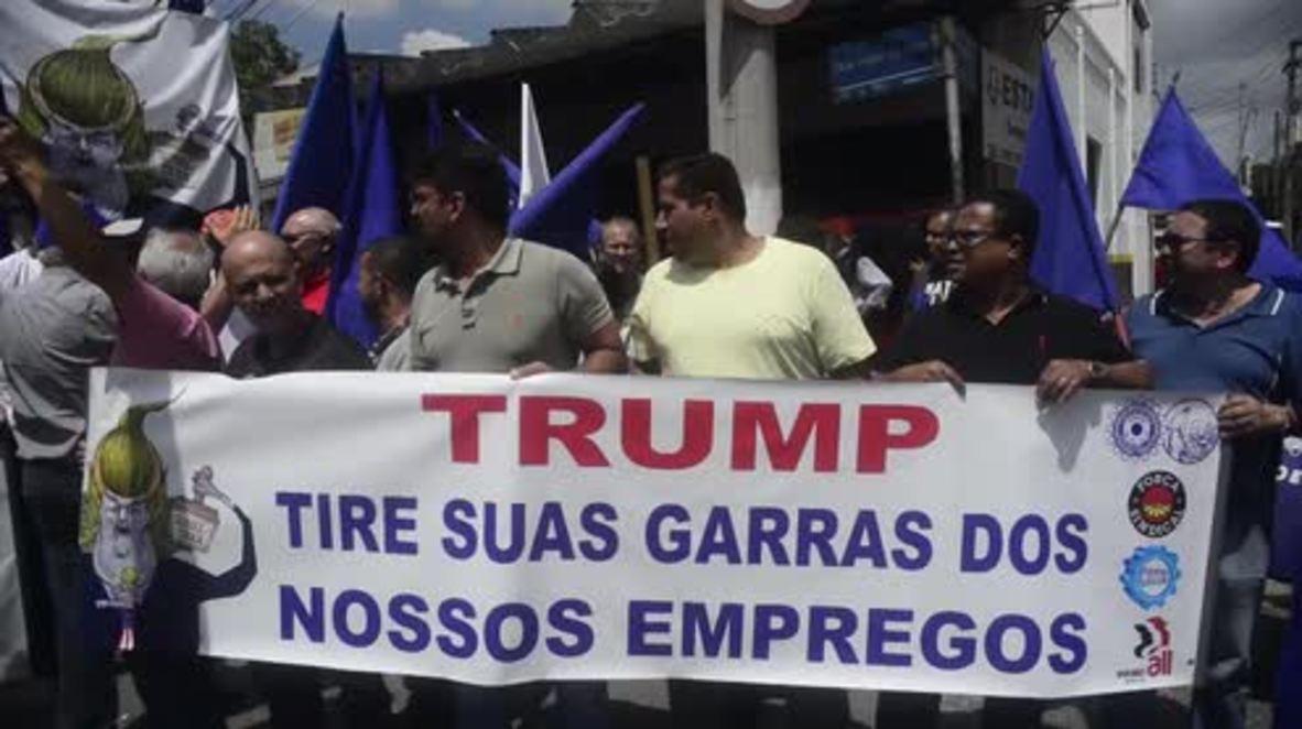 Brazil: Protesters in Sao Paulo slam Trump's tax decision