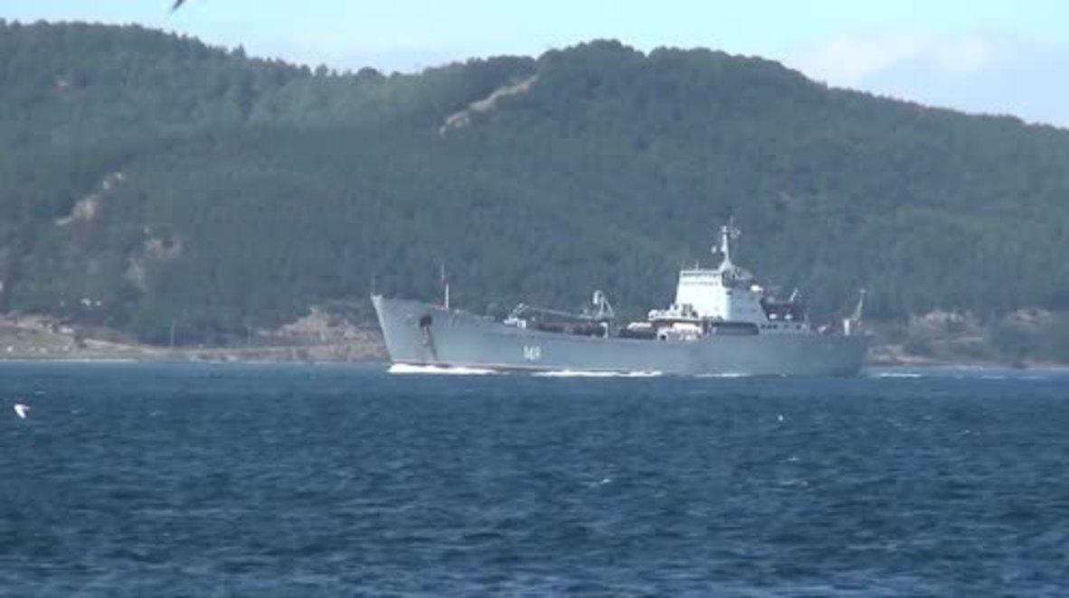 Turquía: Buque de desembarco ruso viaja destino a Siria con refuerzos para el SAA