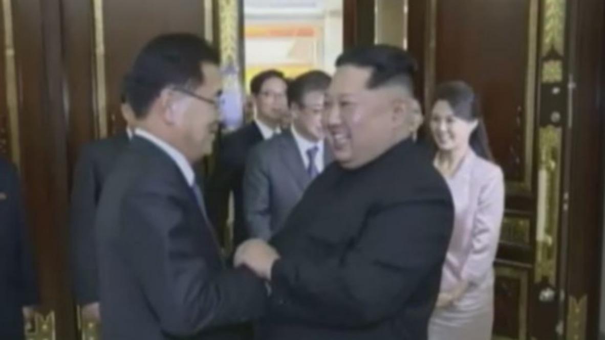 North Korea: Kim Jong-un welcomes South Korea delegation
