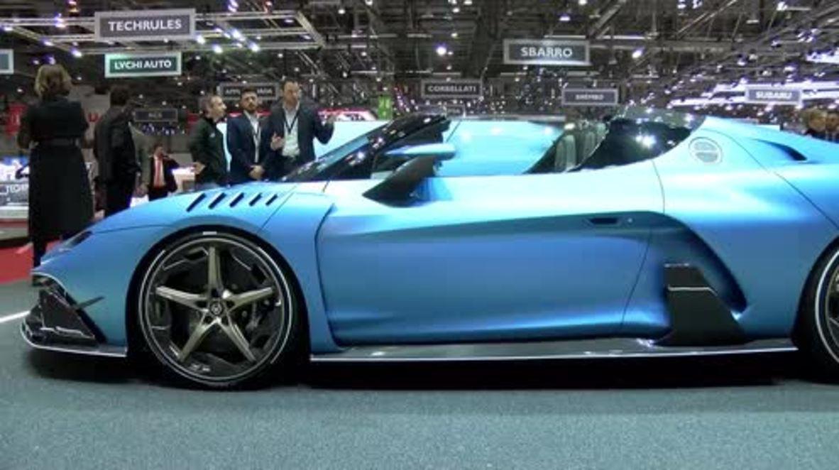 Italdesign shows off latest Zerouno convertible supercar at Geneva