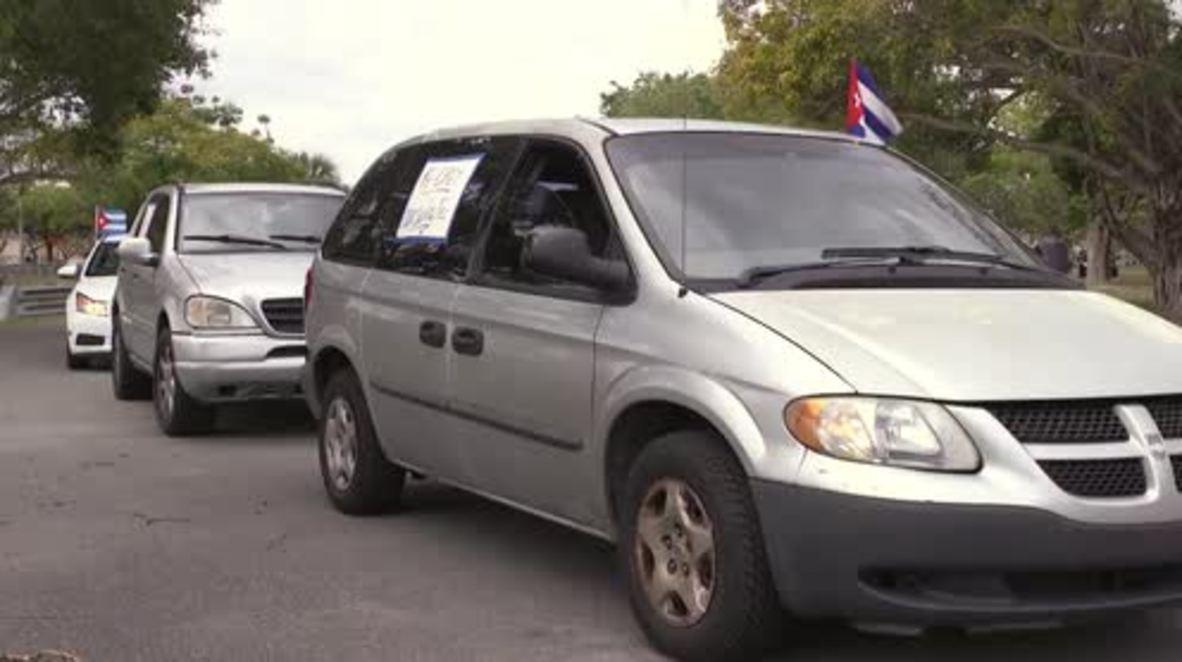 USA: Miami activists protest drastic staff cuts at US Embassy in Havana