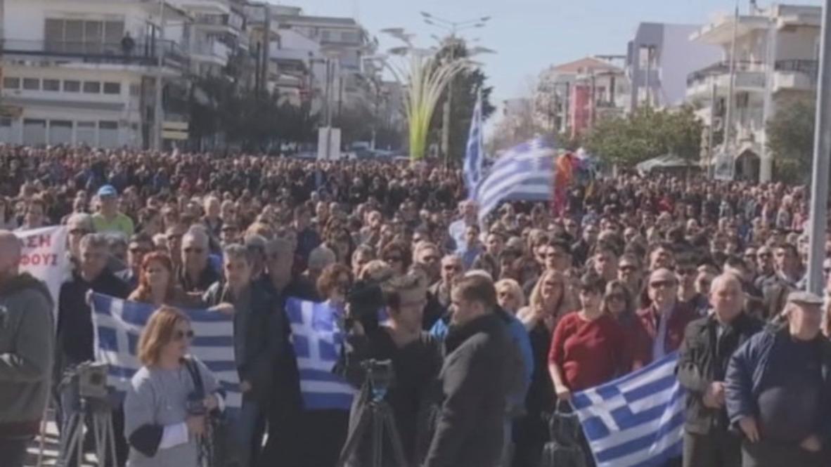 Grecia: Miles de personas exigen a Turquía la liberación de los dos soldados griegos detenidos
