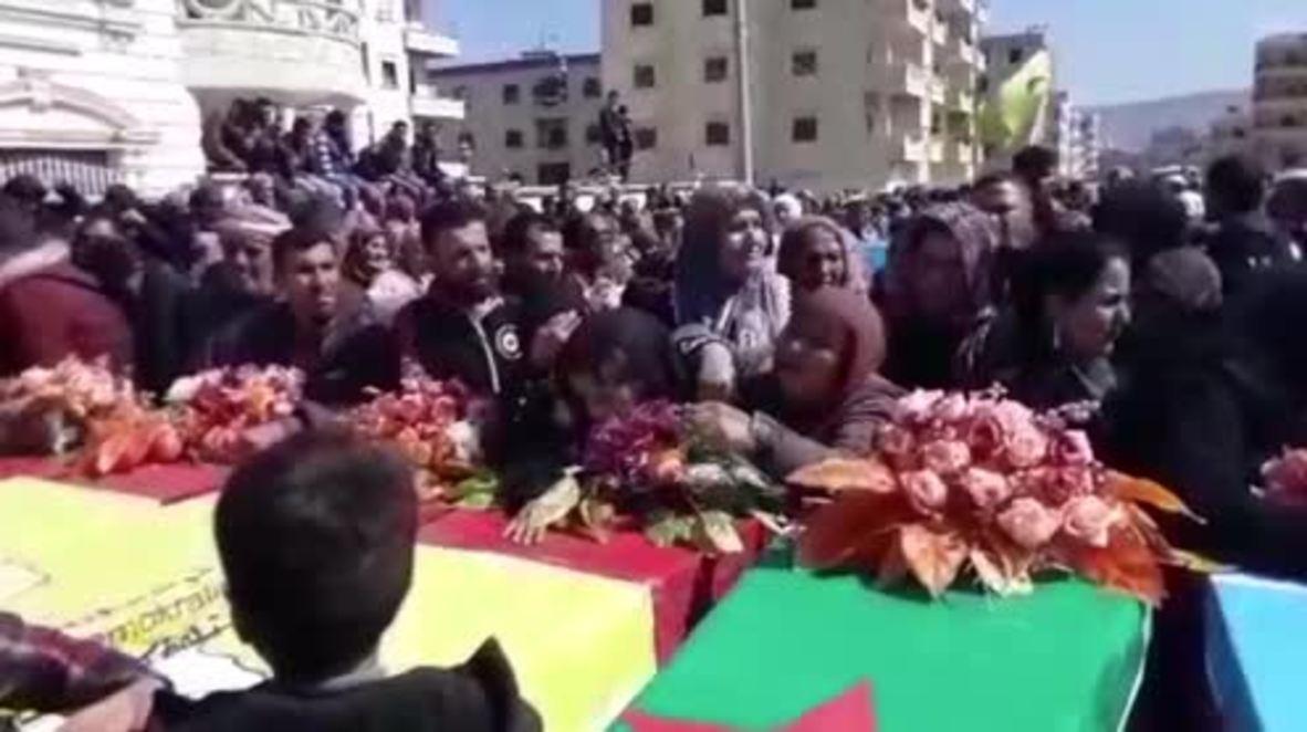 """Siria: Afrín llora a 20 nuevas víctimas de los bombardeos turcos mientras continúa la operación """"Rama de Olivo"""