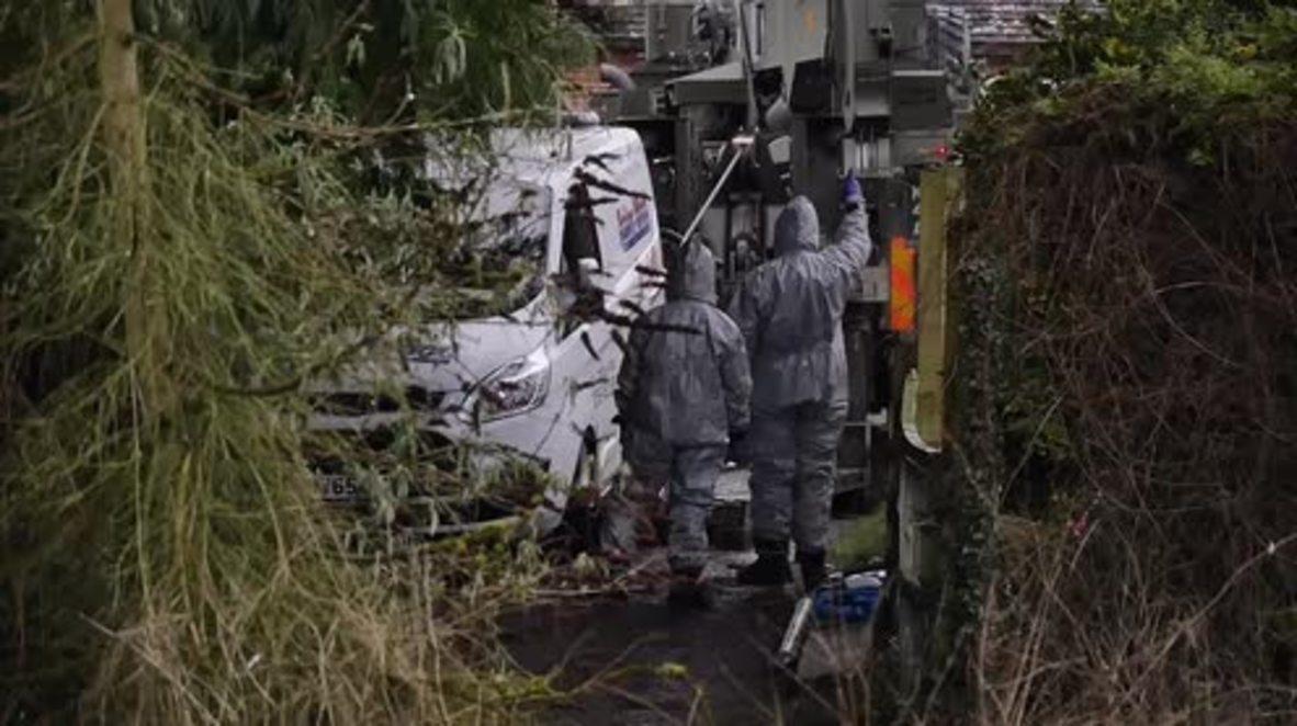 UK: Police cordon off Sainsbury's car park in Salisbury-spy probe
